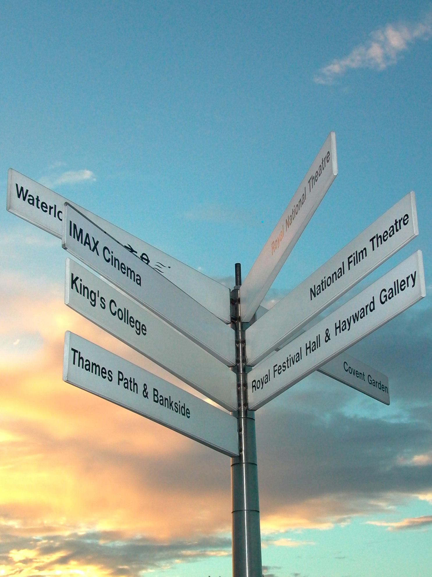 Tall Signpost